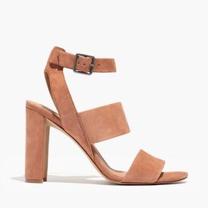 Madewell | Pink Suede The Octavia Sandal Leather